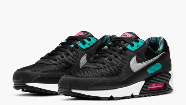 Nike Air Max 90 Black New Green Front thumbnail image