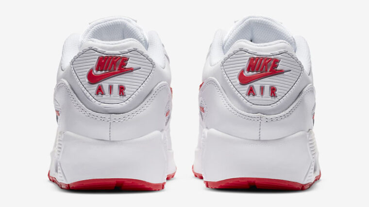 Nike Air Max 90 LTR GS White Hyper Red Back thumbnail image