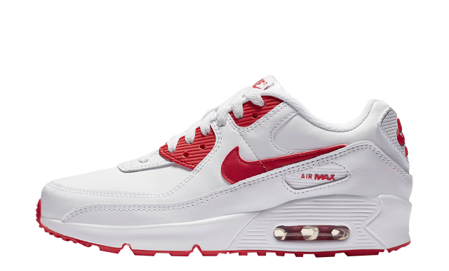 Nike Air Max 90 LTR GS White Hyper Red thumbnail image