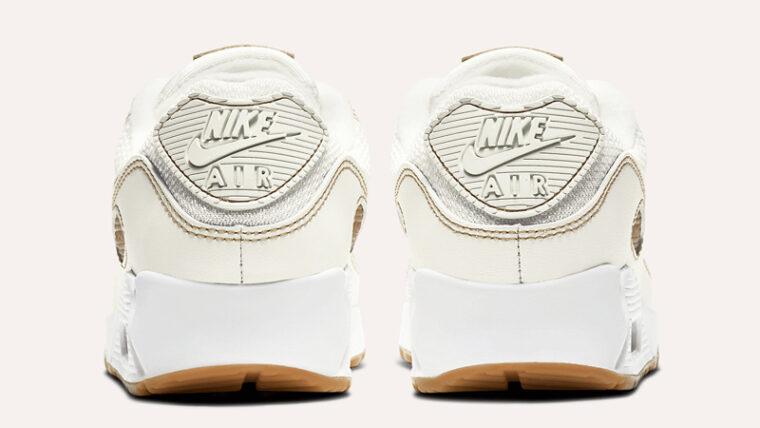 Nike Air Max 90 Sail Gum Brown Back thumbnail image