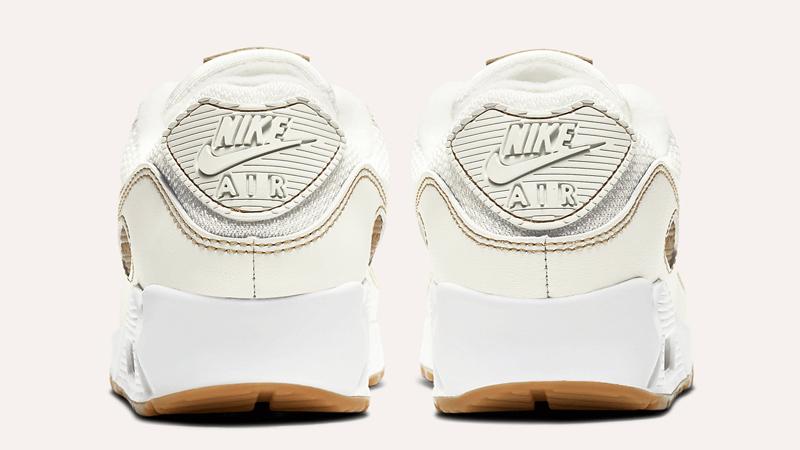 Nike Air Max 90 Sail Gum Brown Back