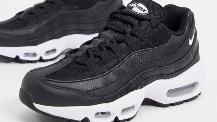 Nike Air Max 95 Black White Front thumbnail image