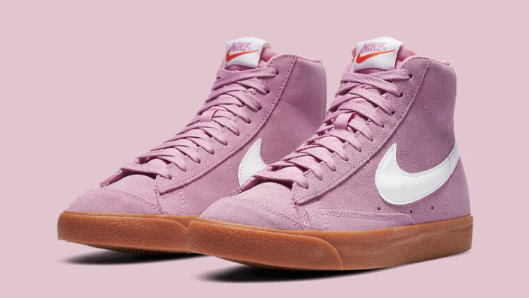 Nike Blazer Mid 77 Soft Pink Gum Front thumbnail image