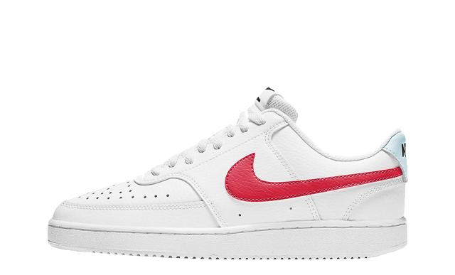 Nike Court Vision Low White Bright Crimson