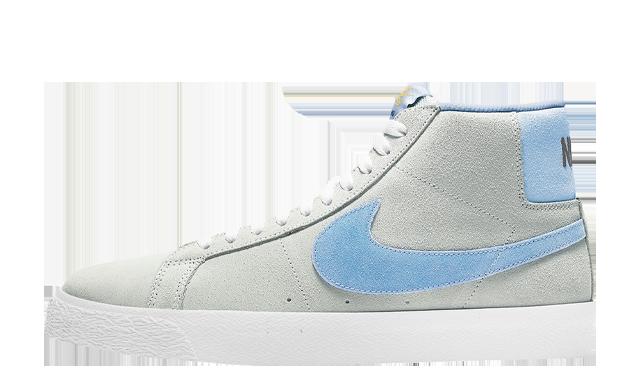 Nike SB Blazer Mid Soft Grey Baby Blue