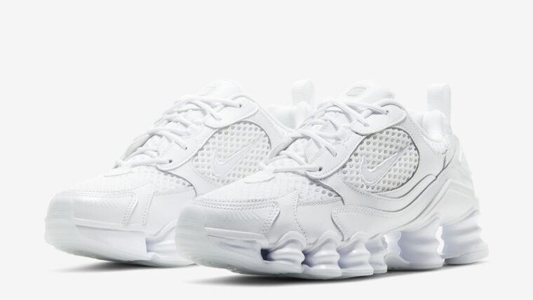 Nike Shox TL Nova Triple White Front thumbnail image