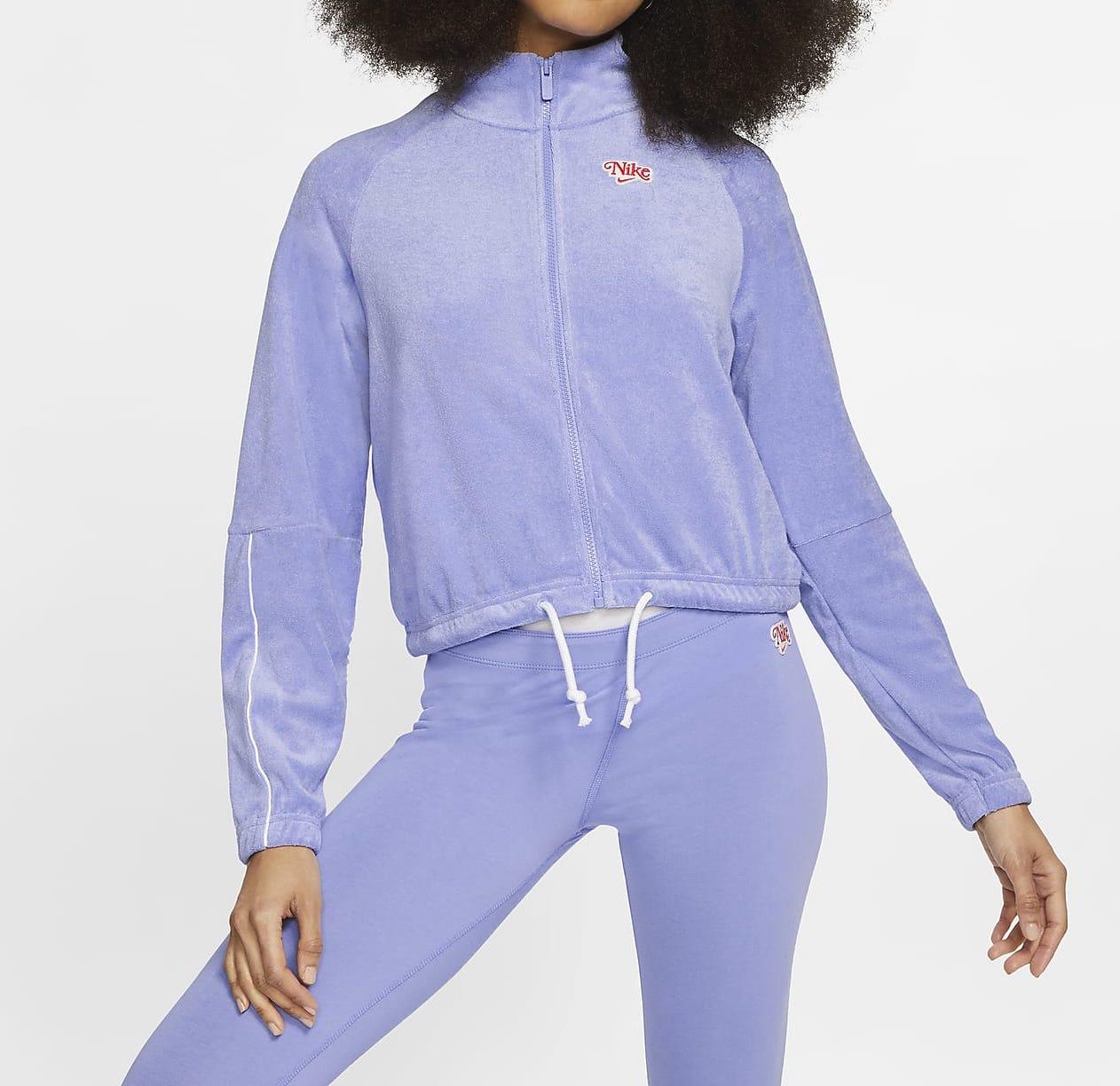Nike Sportswear Zip Top Purple