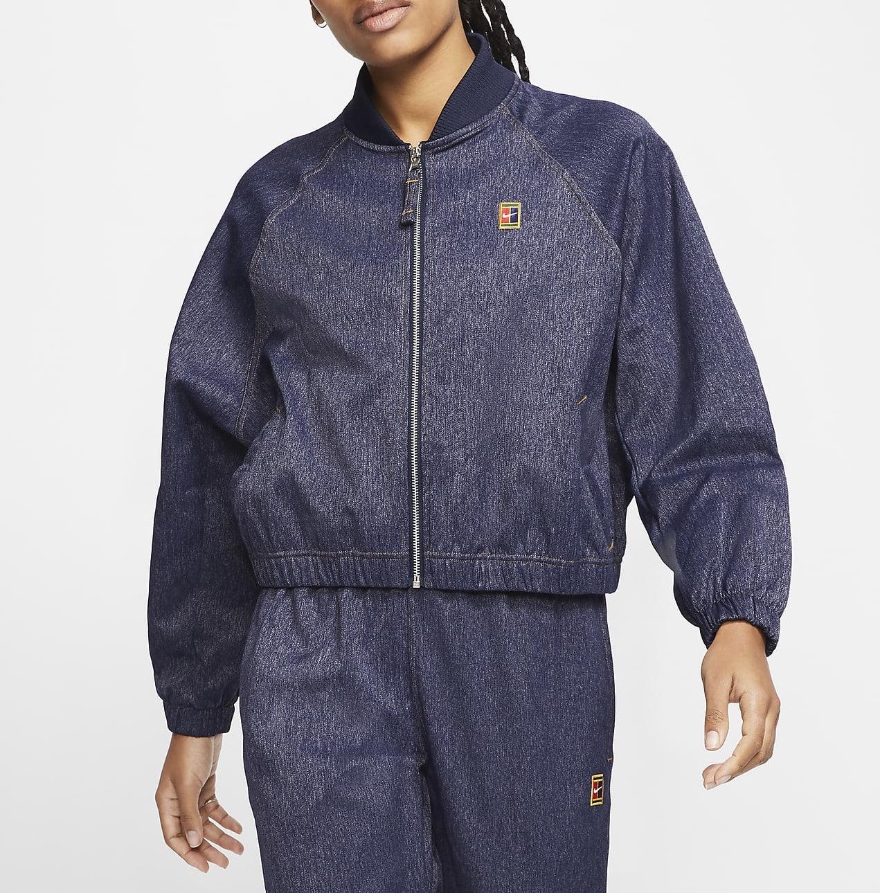 NikeCourt Tennis Jacket Obsidian