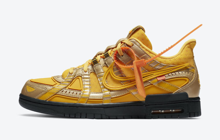 Off-White x Nike Air Rubber Dunk Gold