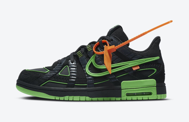 Off-White x Nike Air Rubber Dunk Green Strike