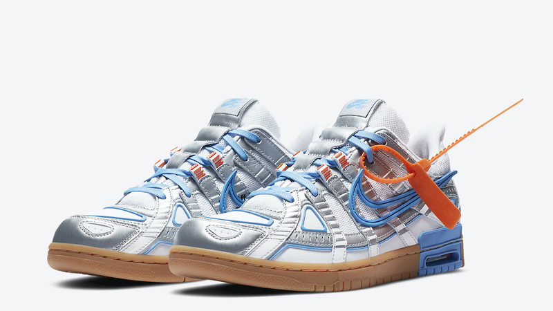 Off-White x Nike Rubber Dunk University Blue Front