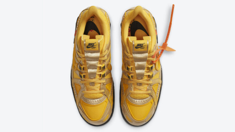 Off-White x Nike Rubber Dunk University Gold Middle thumbnail image