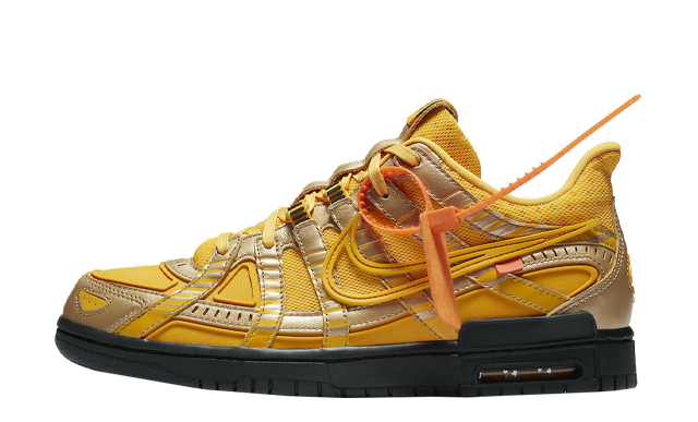 Off-White x Nike Rubber Dunk University Gold