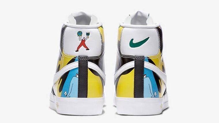Ruohan Wang x Nike Blazer Mid 77 Flyleather Multi Back thumbnail image