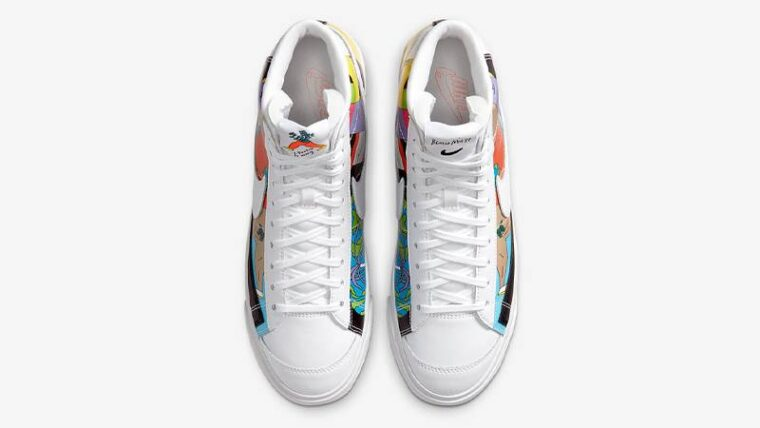 Ruohan Wang x Nike Blazer Mid 77 Flyleather Multi Middle thumbnail image