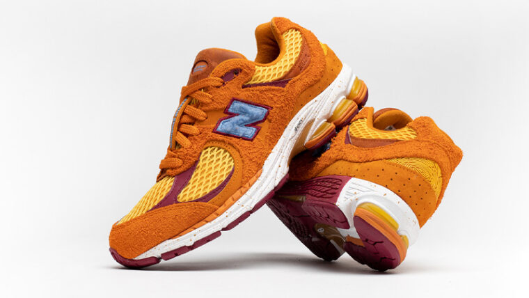 Salehe Bembury x New Balance 2002R Orange Slanted thumbnail image