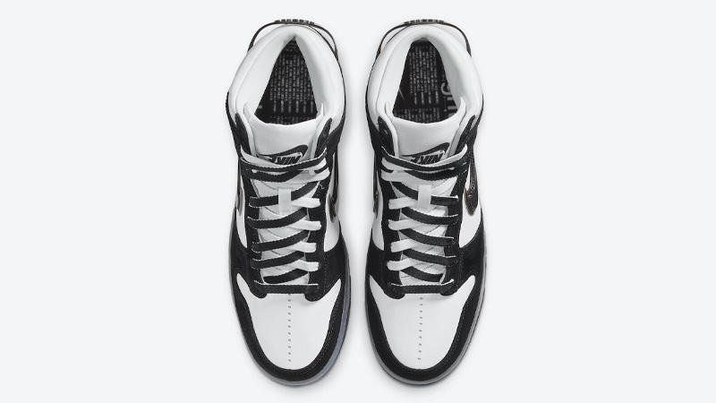 Slam Jam x Nike Dunk High Clear Black Middle
