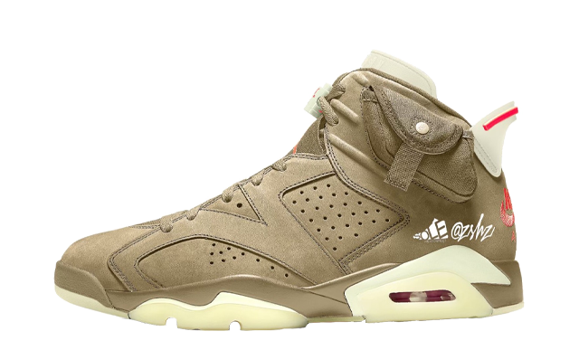 Travis Scott x Air Jordan 6 British Khaki