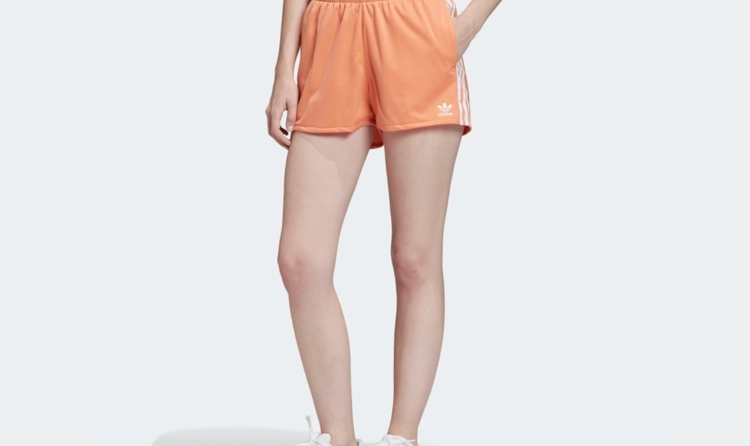 adidas 3-Stripe Shorts Orange