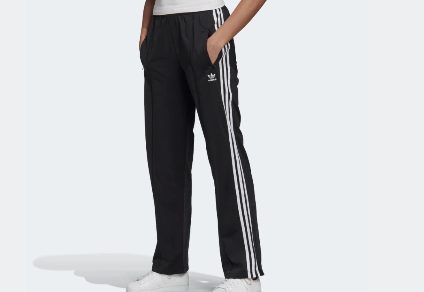 adidas Firebird Tracksuit Bottoms Black
