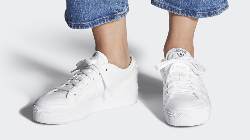 adidas Nizza Platform Cloud White