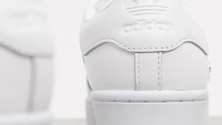 adidas Superstar Bold Premium White Gold Back thumbnail image