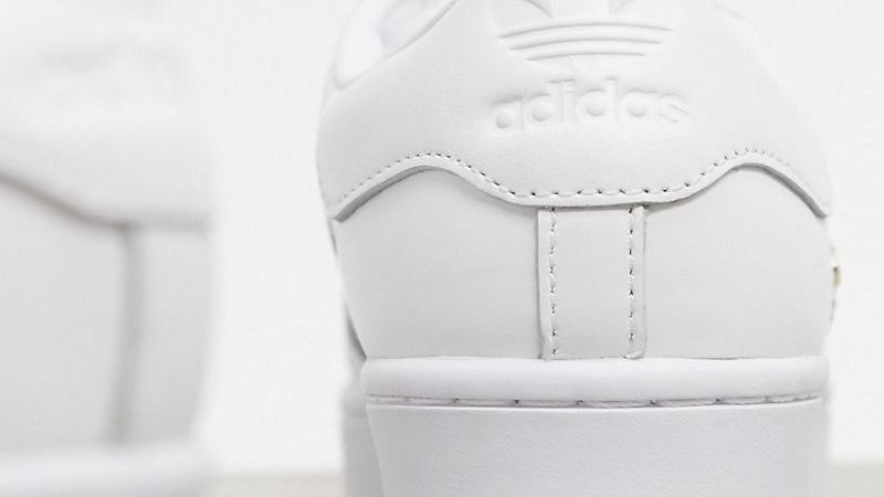adidas Superstar Bold Premium White Gold Back