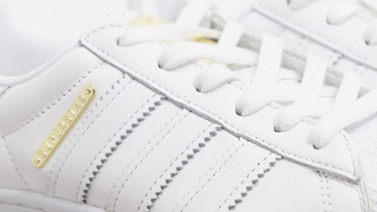 adidas Superstar Bold Premium White Gold Side thumbnail image