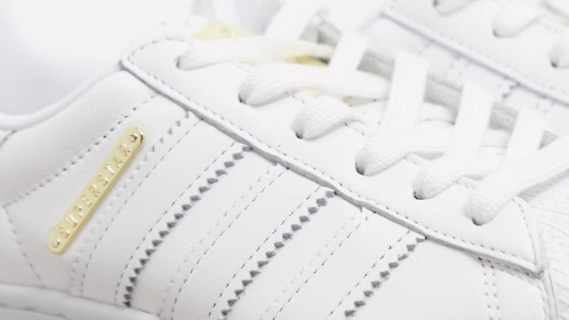 adidas Superstar Bold Premium White Gold Side