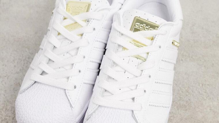adidas Superstar Bold Premium White Gold Top thumbnail image