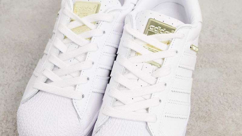 adidas Superstar Bold Premium White Gold Top