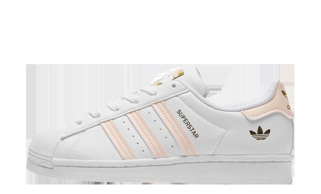 adidas Superstar Junior White Pink JD Exclusive
