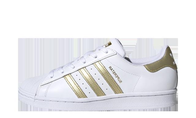adidas Superstar White Gold Metallic
