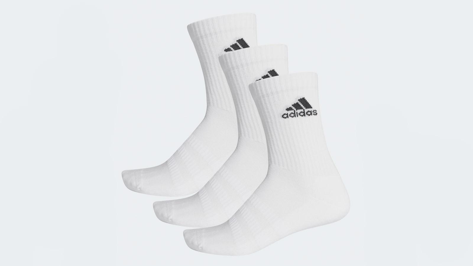 adidas three stripe socks white