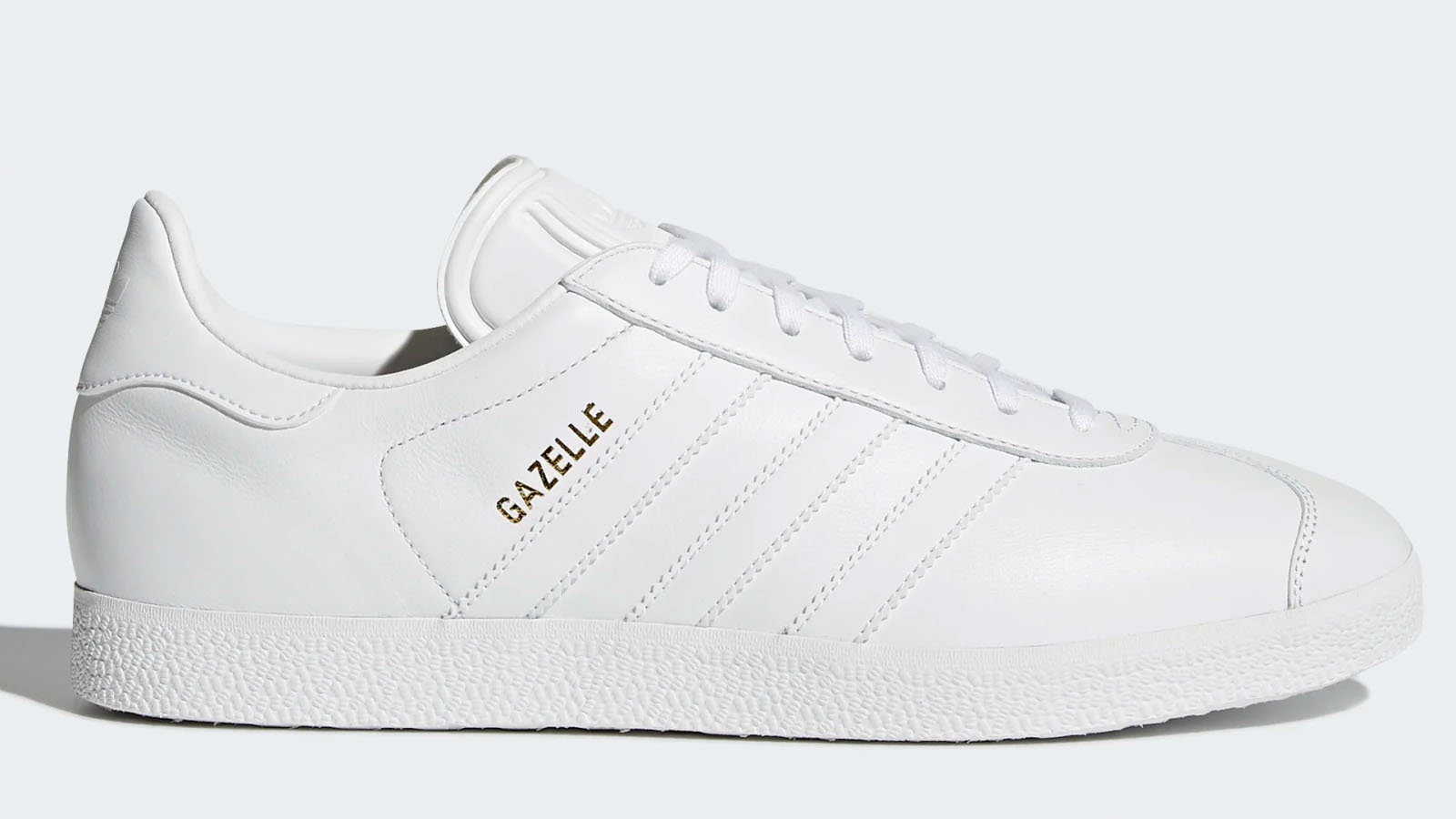 adidas triple white gazelle