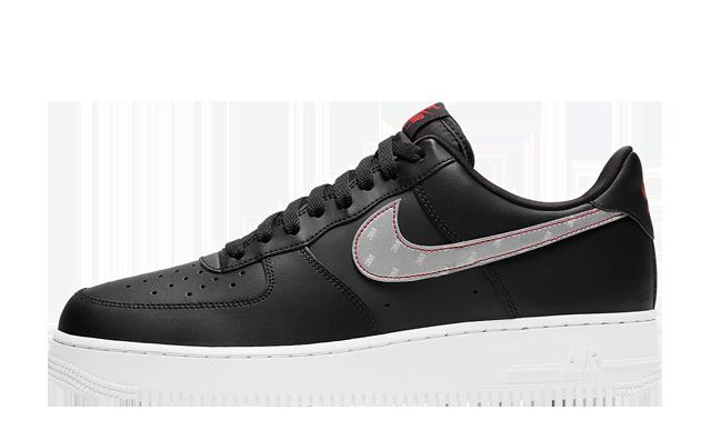 3M x Nike Air Force 1 Reflective Swoosh Black