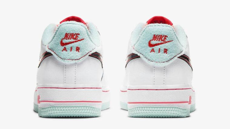 Nike Air Force 1 07 LV8 White Flash Crimson Atomic Pink Back thumbnail image