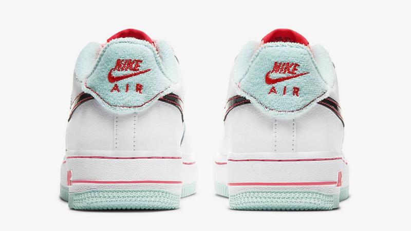 Nike Air Force 1 07 LV8 White Flash Crimson Atomic Pink Back