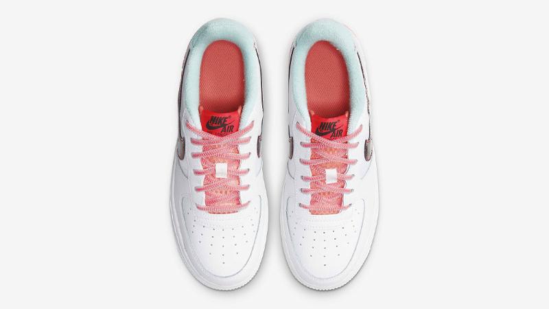 Nike Air Force 1 07 LV8 White Flash Crimson Atomic Pink Middle