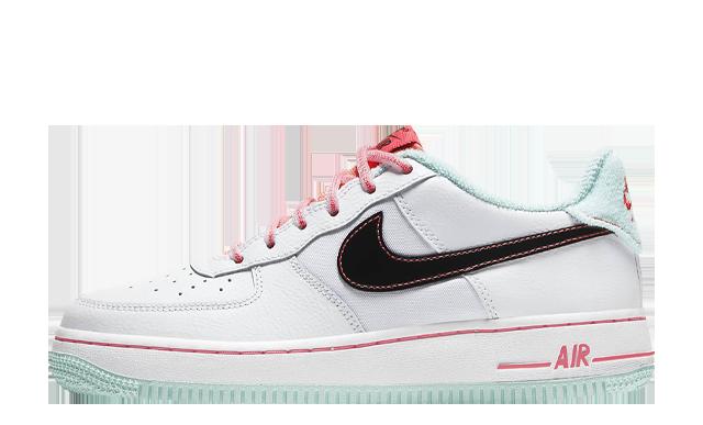 Nike Air Force 1 07 LV8 White Flash Crimson Atomic Pink