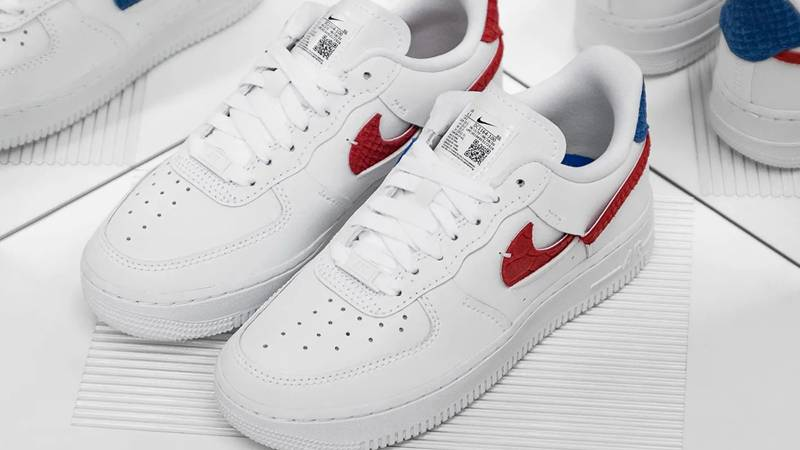 Nike Air Force 1 LXX Snakeskin White Red Lifestyle