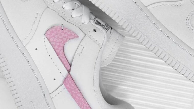 Nike Air Force 1 LXX White Pink Lifestyle Side thumbnail image