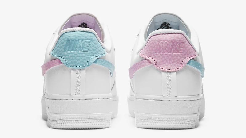 Nike Air Force 1 LXX White Pink Rise Back
