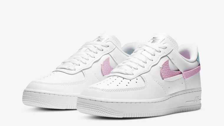 Nike Air Force 1 LXX White Pink Rise Front thumbnail image