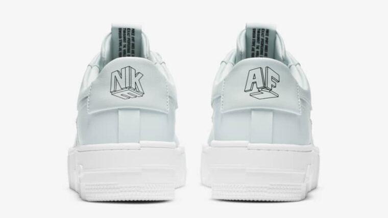 Nike Air Force 1 Pixel Ghost Aqua Black Back thumbnail image