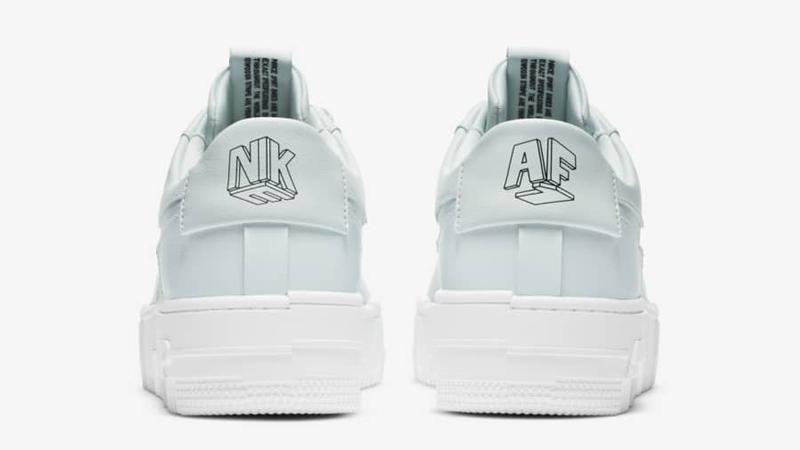 Nike Air Force 1 Pixel Ghost Aqua Black Back