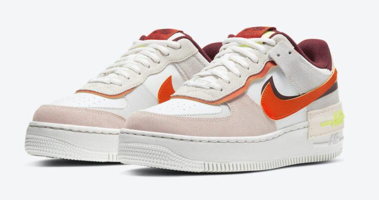 Nike Air Force 1 Shadow Team Red Cream