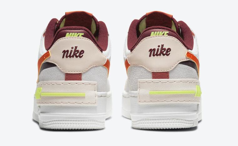 Nike Air Force 1 Shadow Team Red Cream Volt