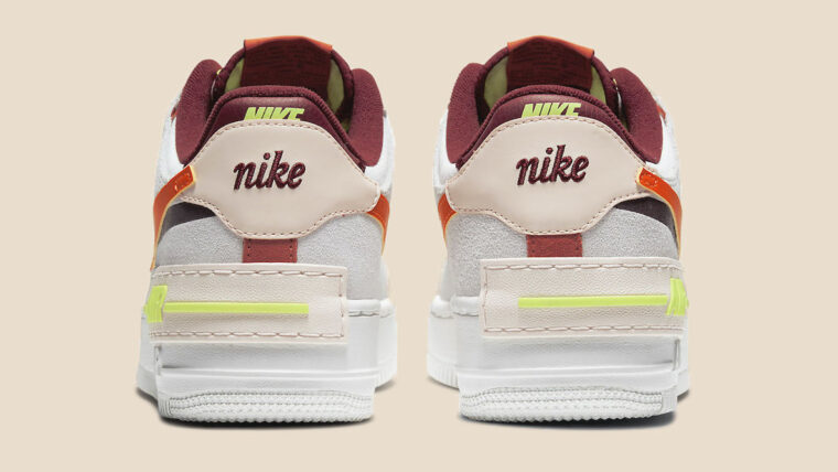 Nike Air Force 1 Shadow Team Red Cream Volt copy