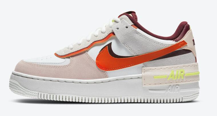 Nike Air Force 1 Shadow Team Red Cream White